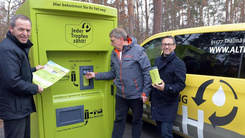Der erste Altfett-Automat ging an der Theodor-Heuss-Anlage in Betrieb. Quelle: Nordbayern.de, Klaus-Dieter Schreiter. © Klaus-Dieter Schreiter